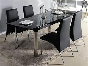 Table A Rallonge Pas Cher : table manger en verre design pas cher ~ Teatrodelosmanantiales.com Idées de Décoration