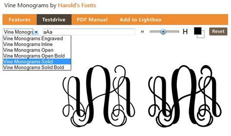 entwined  interlocking monogram forum dafontcom  monogram fonts vine monogram font