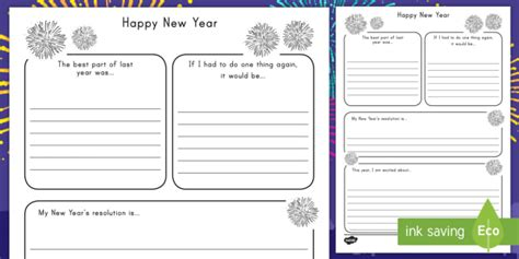 New Year's Resolution Writing Frame  New Years, Resoultions