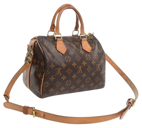 louis vuitton crossbody speedy bandouliere  monogram  brown coated canvas shoulder bag