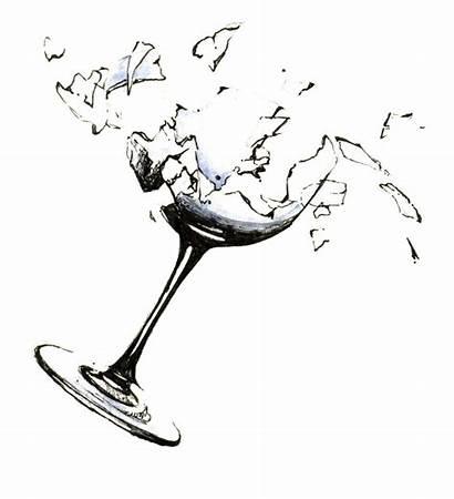 Glass Broken Clipart Break Wine Future Clip