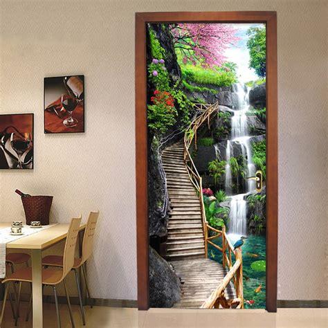wallpaper chinese style waterfalls nature landscape
