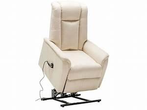 Fauteuil Electrique Conforama : fauteuil de relaxation et releveur lectrique en tissu max coloris sable vente de tous les ~ Teatrodelosmanantiales.com Idées de Décoration