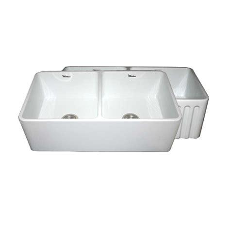 white apron front sink whitehaus collection reversible farmhaus series apron