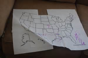 50 States Map Labeled