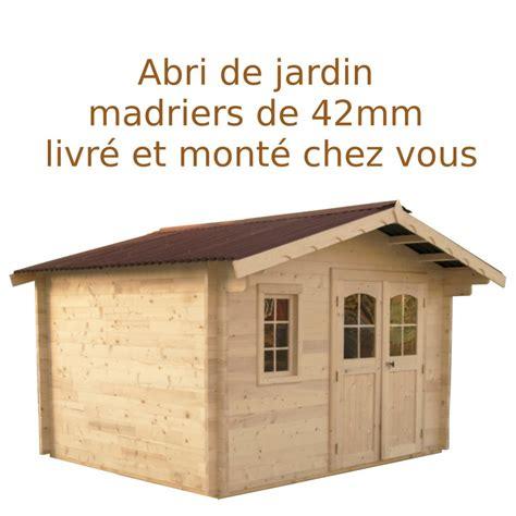 abri de jardin 12 91m 178 madriers 42mm livr 233 et mont 233