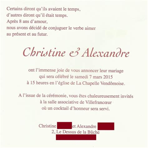 faire part mariage texte texte faire part mariage amour