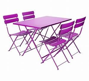 Salon De Jardin Pliant : salon de jardin pliant table de salon de jardin en resine ~ Teatrodelosmanantiales.com Idées de Décoration