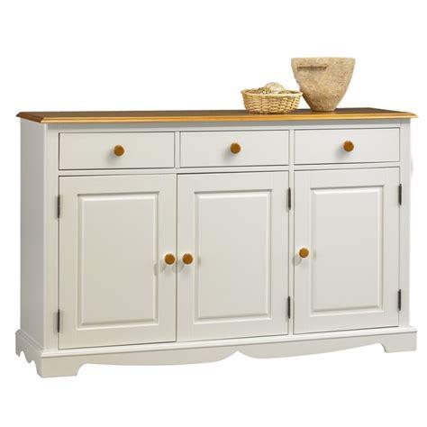 meuble cuisine en pin pas cher buffet blanc et miel 3 portes 3 tiroirs beaux meubles