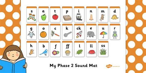 Phase 2 Sound Mat  Sound Mat, Letters And Sounds, Dfes Letters And Sounds, Phase 2, Phase Two