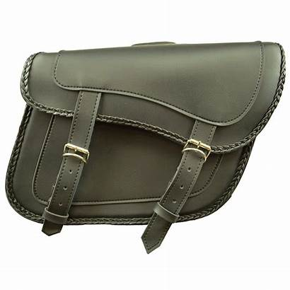 Saddlebags Carry Slanted Concealed Studs Braided Without