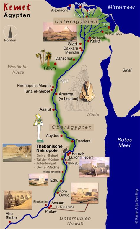 Altes ägypten Karte