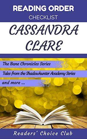 reading order checklist cassandra clare series read