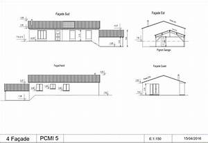 plan facade maison perfect extension et surlvation en With amazing type de toiture maison 9 plan maison en u en bois ooreka