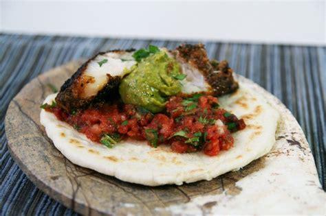 grouper blackened tacos refried beans taco