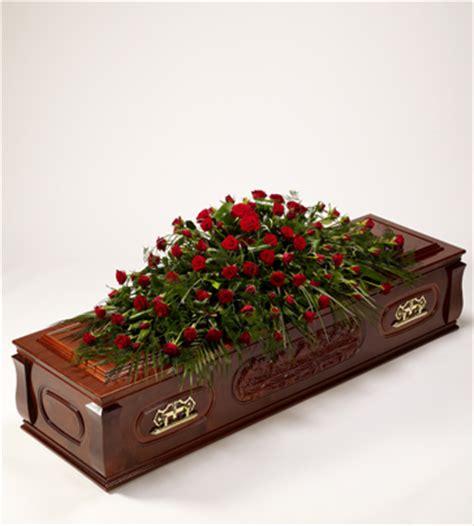 rose  foliage casket spray
