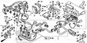 Honda Motorcycle 2011 Oem Parts Diagram For Wire Harness