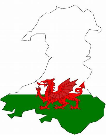 Wales Flag Map Welsh Western Arms Coat
