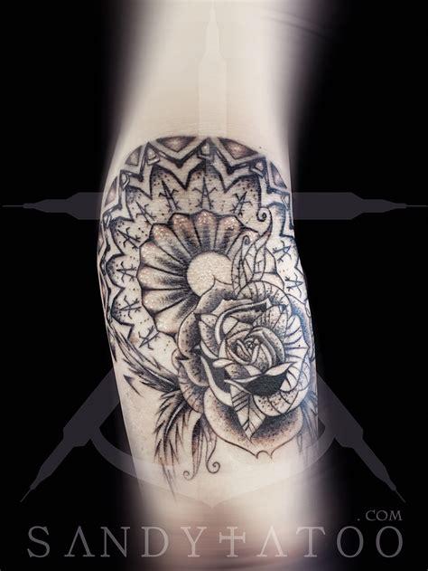 mandala fleur tatouage