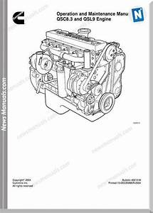 Cummins Engine Qsc8 3 Qsl9 Operation Maintenance Manual