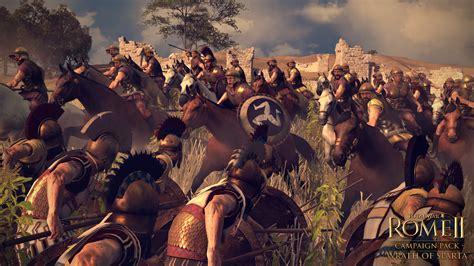 spartan war total war rome ii expansion wrath of sparta announced