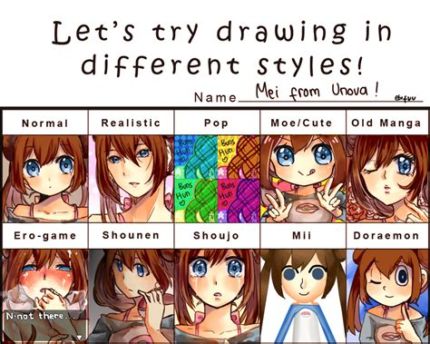 Let's Try Drawing In Different Styles Meme ! By Ebifuu On