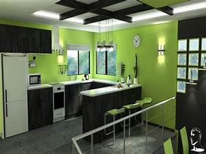Small room deco lime green kitchen idea turquoise kitchen for Kitchen colors with white cabinets with movie theater wall art
