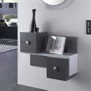 meuble entree design gris