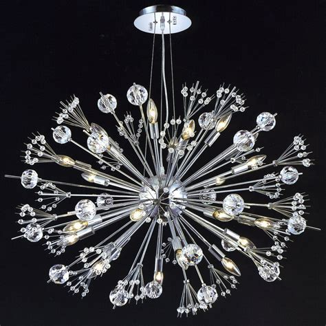 chrome sputnik chandelier chrome quot sputnik quot style 24 light chandelier