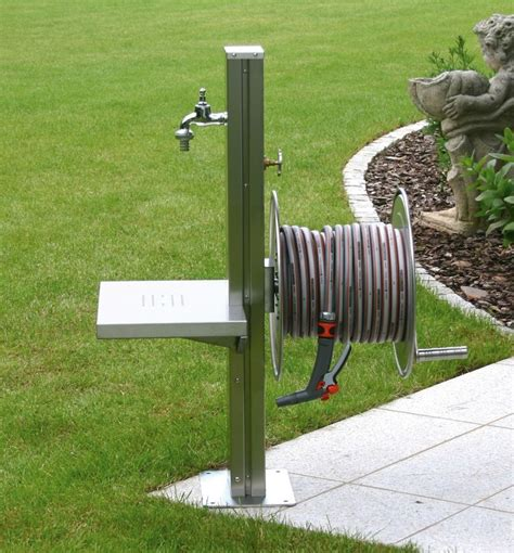 Hose Station Faucet Extender by Garden Tap Free Standing Stainless Steel Outdoor Tap