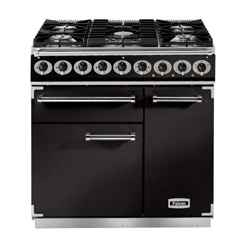 falcon range cooker falcon 900 deluxe range cooker dual fuel with gas hob multifunction and fanned oven with