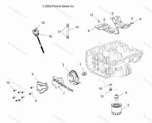 Polaris Atv 2018 Oem Parts Diagram For Engine  Oil System