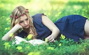 beautiful girl reading book hd wallpaper - Download Hd ...