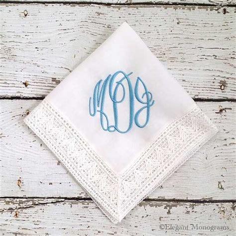 something blue bridal monogrammed handkerchief heather strickland monogrammed something blue bridal