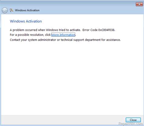 fix windows activation error 0x80072f78 on windows 7 vista