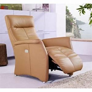 Fauteuil Cuir Camel : kingston fauteuil relax electrique cuir vachette camel ~ Teatrodelosmanantiales.com Idées de Décoration