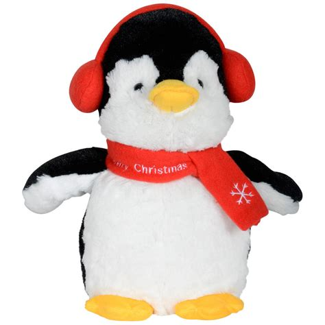 animated plush musical penguin christmas decoration