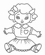 Coloring Toys Christmas Pages Toy Doll Sheet Dolly Sheets Children Fun Dog Holiday Templates sketch template