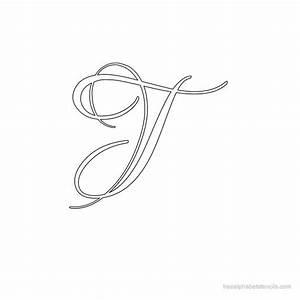 Calligraphy Alphabet Stencils | FreeAlphabetStencils.com