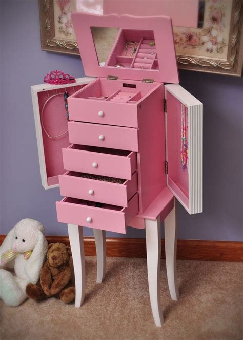 adorable  girls jewelry armoire pink furniture