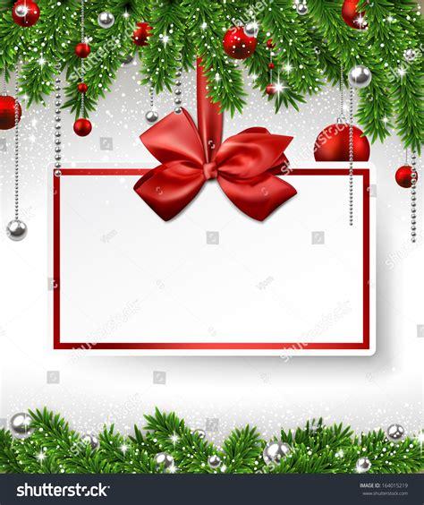 christmas wallpaper invitations background fir twigs paper invitation stock vector 164015219