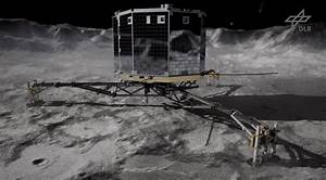 First Images Of Comet Coming In From Philae Lander ...