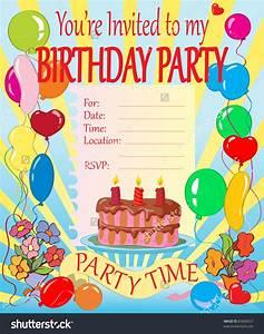 Kids birthday invitation cards kids birthday invitations birthday party invitations stopboris Choice Image