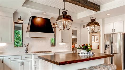 farmhouse kitchen lighting design and dining ideas