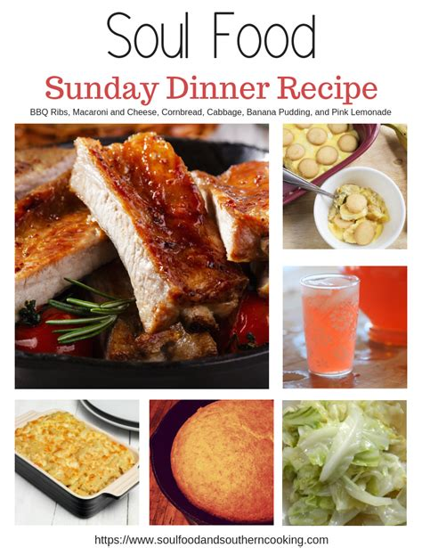 Courtesy of the food charlatan. Soul Food Dinner Menu and Recipes - BBQ Ribs Dinner