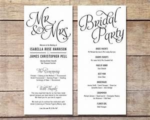 Invitation inspiring free wedding program templates ideas for Avery wedding program templates