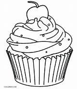 Cupcake Coloring Pages Birthday Happy Printable Print Muffin Getcolorings sketch template