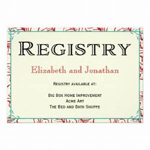 registry cards for wedding etiquettes to follow With wedding gifts for couples without a registry