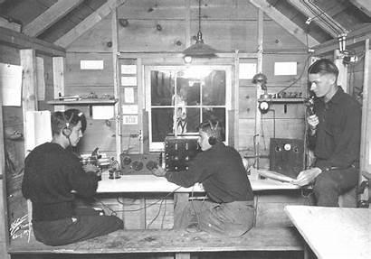 Ham Radio Shack Amateur History Early Station