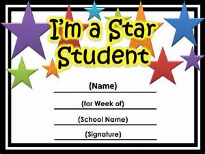 star of the week certificate printable printable With star of the week certificate template
